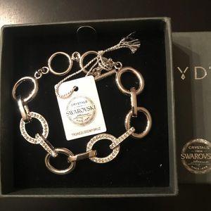 Nic/Syd Rhodium Plated Bracelet Swarovski®
